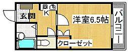 河正ハイツ[1階]の間取り