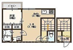 アドニスコート堺[2階]の間取り