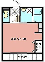 プリンスビル[302号室]の間取り