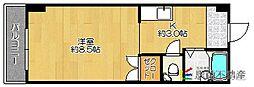 北原ハイツ[302号室]の間取り