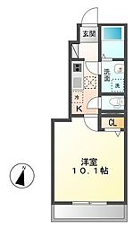 木更津市長須賀593番1新築アパート[108号室]の間取り
