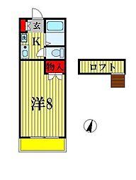 サクシード上本郷[1階]の間取り