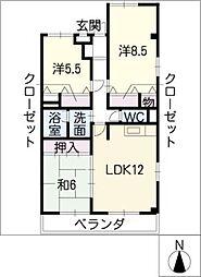 ヨネックスマンション[3階]の間取り