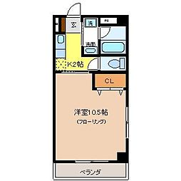 エルハイツ川田[301号室]の間取り