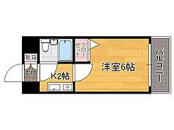 福岡県福岡市中央区荒戸2丁目の賃貸マンションの間取り