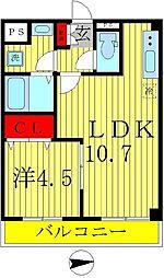 ドエルコート新松戸[1階]の間取り