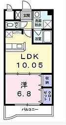 エス・テイト外園[2階]の間取り