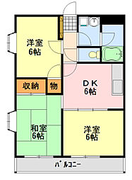 カンユウINARI[2階]の間取り
