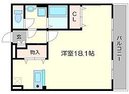 上新ビル上新庄[5階]の間取り