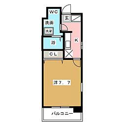 ローズモント・フレア博多駅前[5階]の間取り