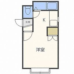 フォレストヒルズ東札幌[1階]の間取り