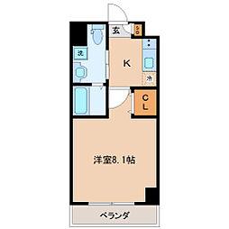 エルスタンザ仙台八幡 5階1Kの間取り