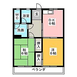 ヒサキコーポ[2階]の間取り