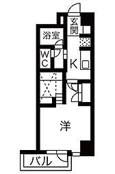 COZY PLACE星ヶ丘[6階]の間取り