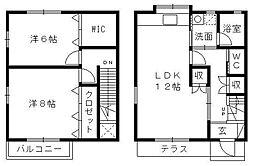 [テラスハウス] 静岡県浜松市東区天王町 の賃貸【/】の間取り