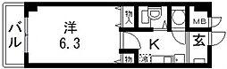 オークハイツ[302号室号室]の間取り