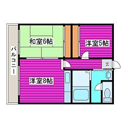 北海道札幌市東区北四十二条東9丁目の賃貸アパートの間取り