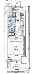 名古屋市営東山線 今池駅 徒歩2分の賃貸マンション 15階1Kの間取り