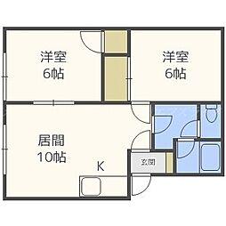 クレール517[1階]の間取り
