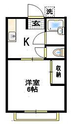 ロイヤル湘南[1階]の間取り