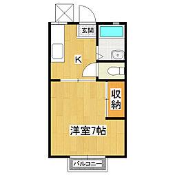 中野ハイツ[2階]の間取り