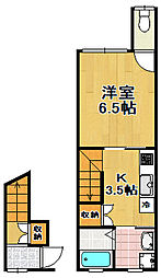 [テラスハウス] 大阪府大阪市大正区三軒家東6丁目 の賃貸【/】の間取り