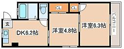 兵庫県神戸市兵庫区荒田町3丁目の賃貸マンションの間取り