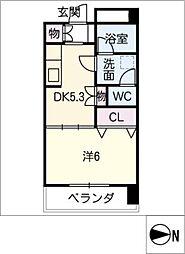 TOURNEY木曽川[2階]の間取り