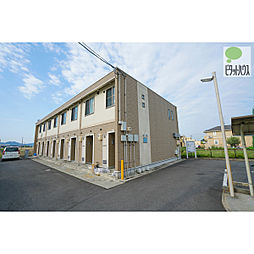 岡山県岡山市中区倉富の賃貸アパートの外観