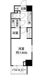 東京メトロ日比谷線 仲御徒町駅 徒歩4分の賃貸マンション 6階1Kの間取り