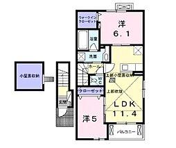 ラルフ I[2階]の間取り