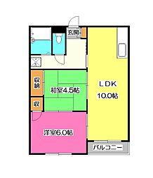 埼玉県入間市東藤沢8丁目の賃貸マンションの間取り