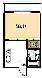今村コーポ[405号室]の間取り