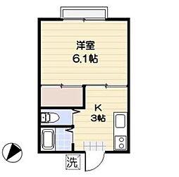 東京都文京区千石3丁目の賃貸アパートの間取り