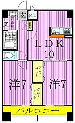 シャルマン青井[3階]の間取り