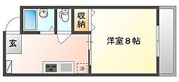 吉岡マンションD棟[1階]の間取り