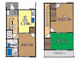 [テラスハウス] 神奈川県茅ヶ崎市赤松町 の賃貸【神奈川県 / 茅ヶ崎市】の間取り