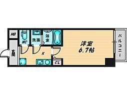 パーラム徳庵 2階1Kの間取り