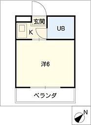 大仁マンション[1階]の間取り