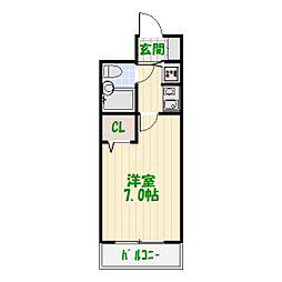 ジョイフル堀切菖蒲園[0303号室]の間取り
