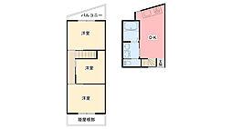 [テラスハウス] 兵庫県尼崎市武庫川町 の賃貸【/】の間取り