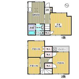 [一戸建] 東京都葛飾区新宿5丁目 の賃貸【/】の間取り