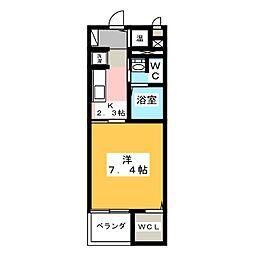 フルール アベニュー[3階]の間取り