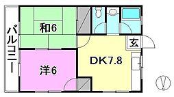 コーポさつき(空港通3)[303 号室号室]の間取り