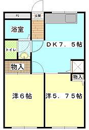 フローラKIKU E[105    号室]の間取り