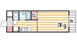 グリーンコート[4階]の間取り