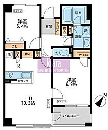 CASSIA横浜ガーデン山[1階]の間取り