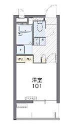 沖縄都市モノレール てだこ浦西駅 4kmの賃貸マンション 3階1Kの間取り
