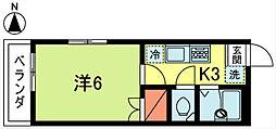 大嶋ハイツ[201号室]の間取り