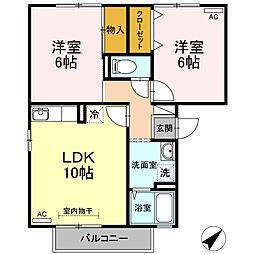 エスポワール松本 B棟[1階]の間取り